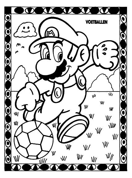 Coloriage Mario football
