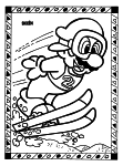 Coloriage Mario jeux olympiques