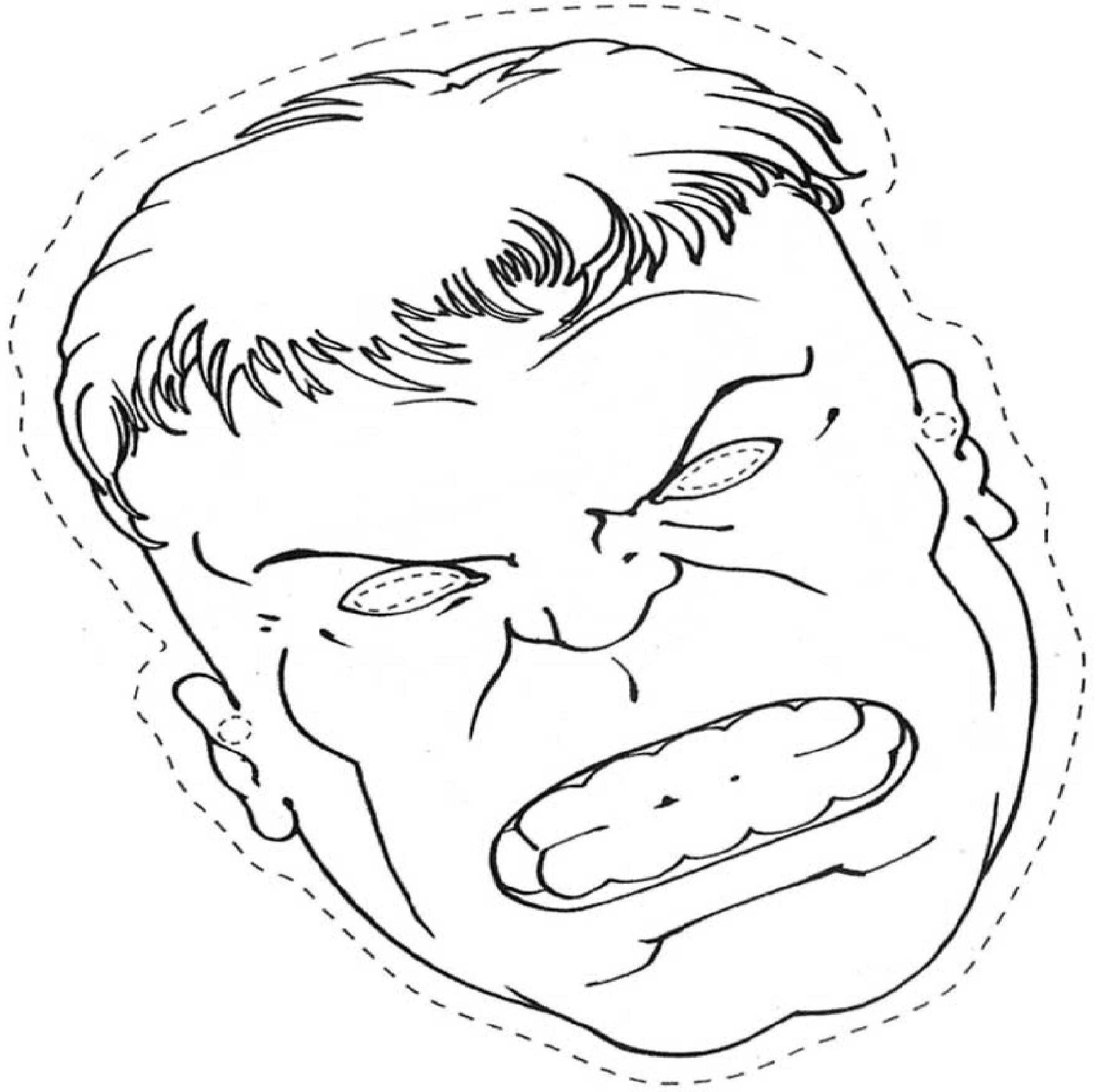 Coloriage masque Hulk