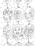 Coloriage masque Italien