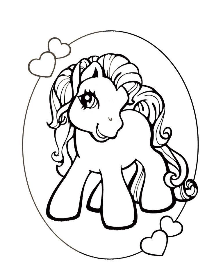 coloriage mon petit poney