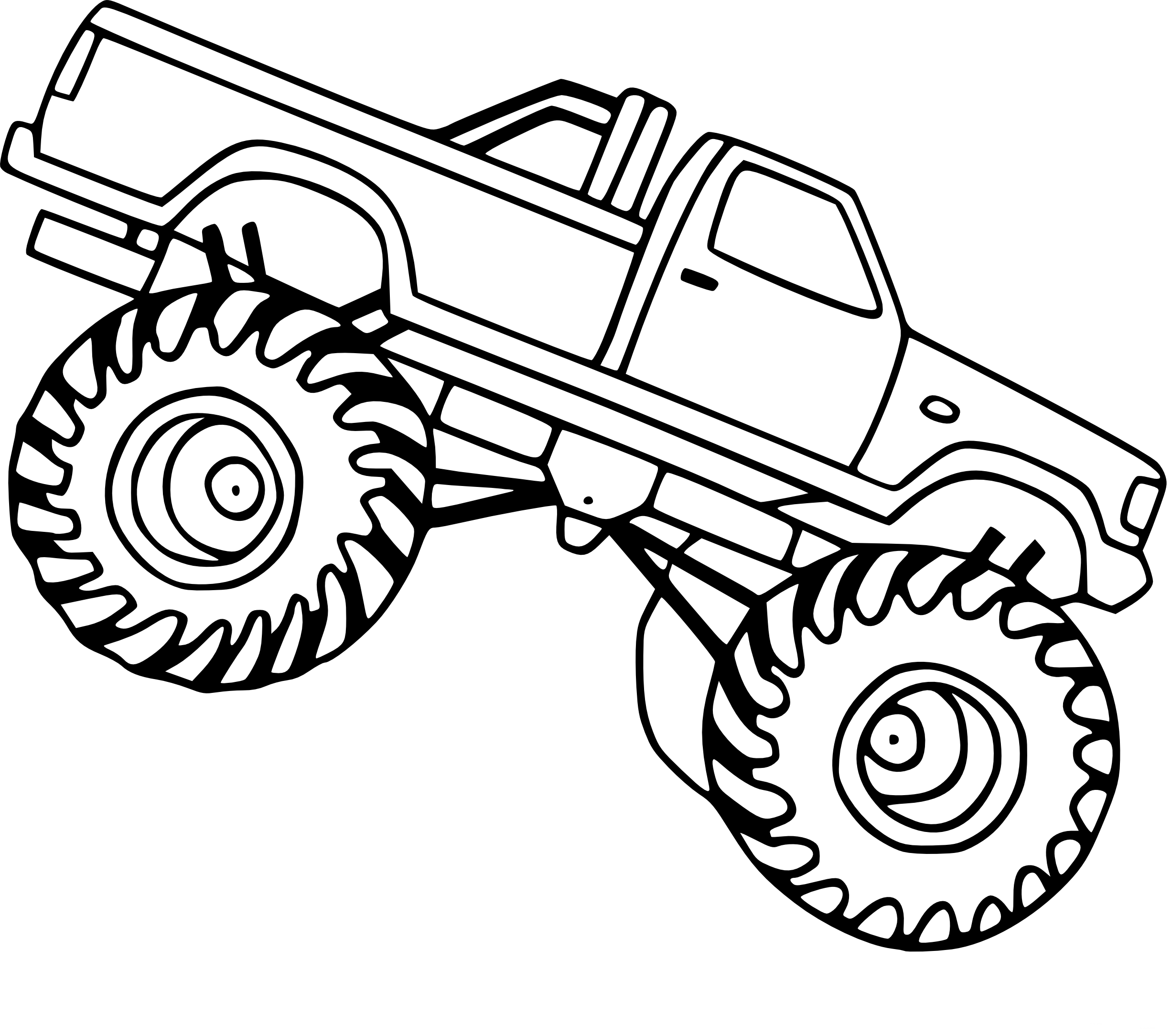 Coloriage monster truck imprimer - Coloriage de monster ...