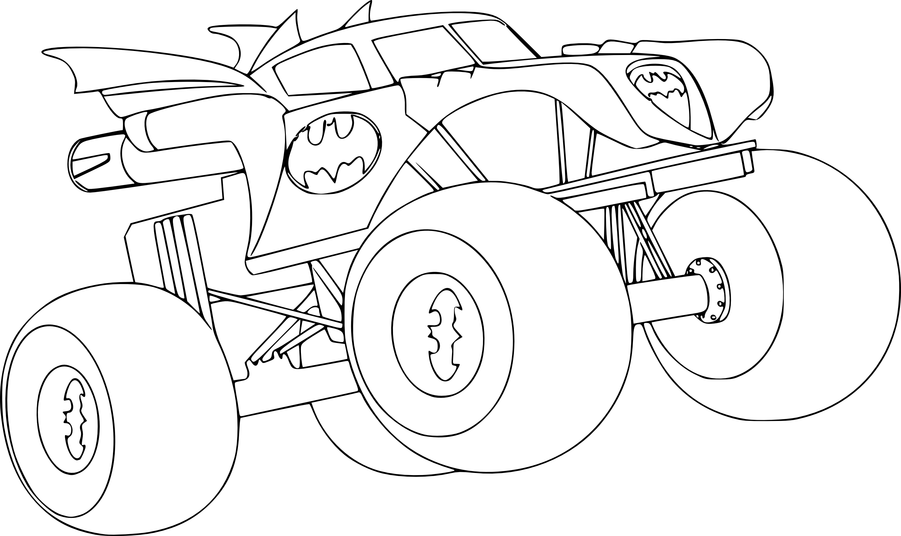 Coloriage Monster Truck Batman à Imprimer
