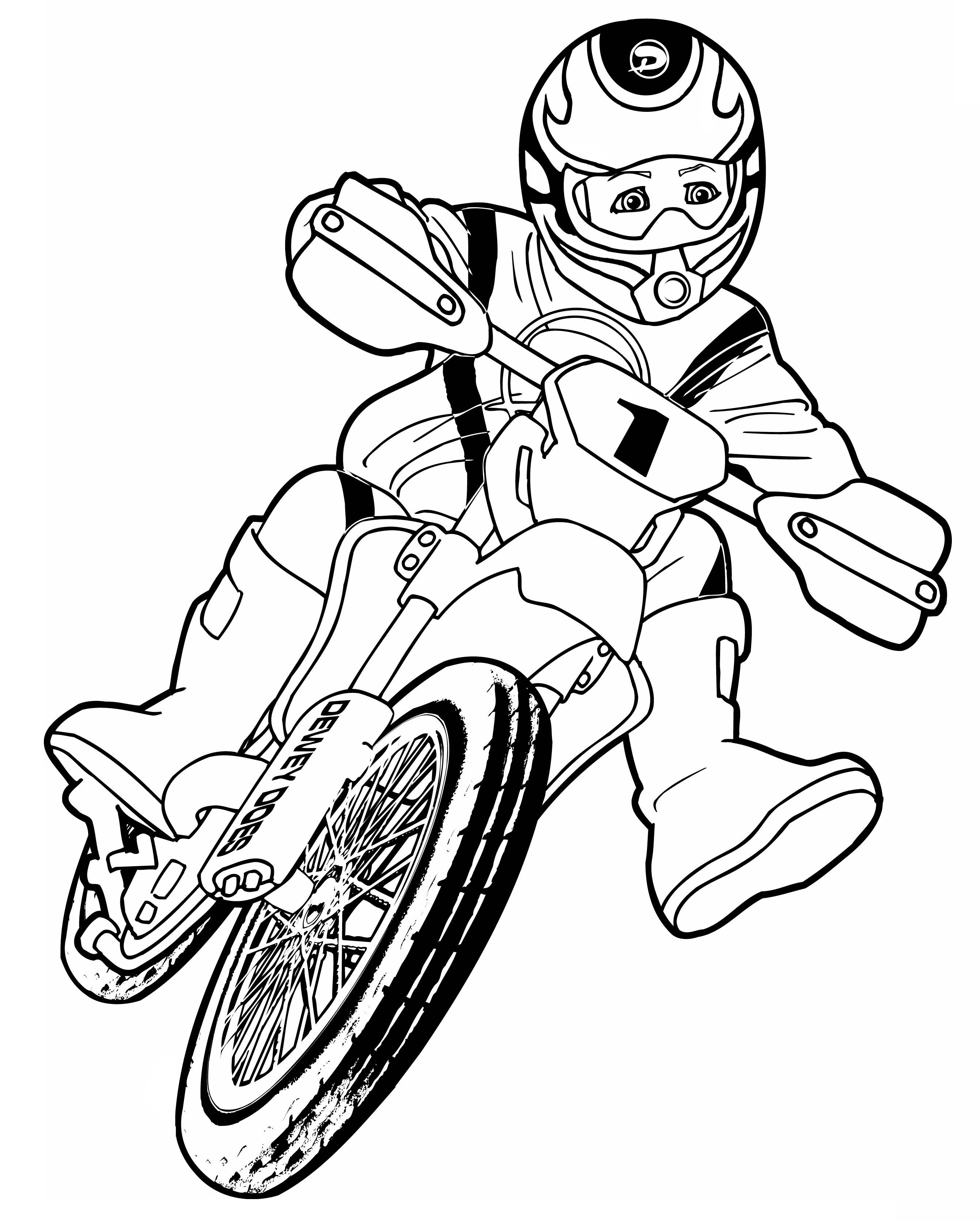 Coloriage Moto Cross Motocross A Imprimer