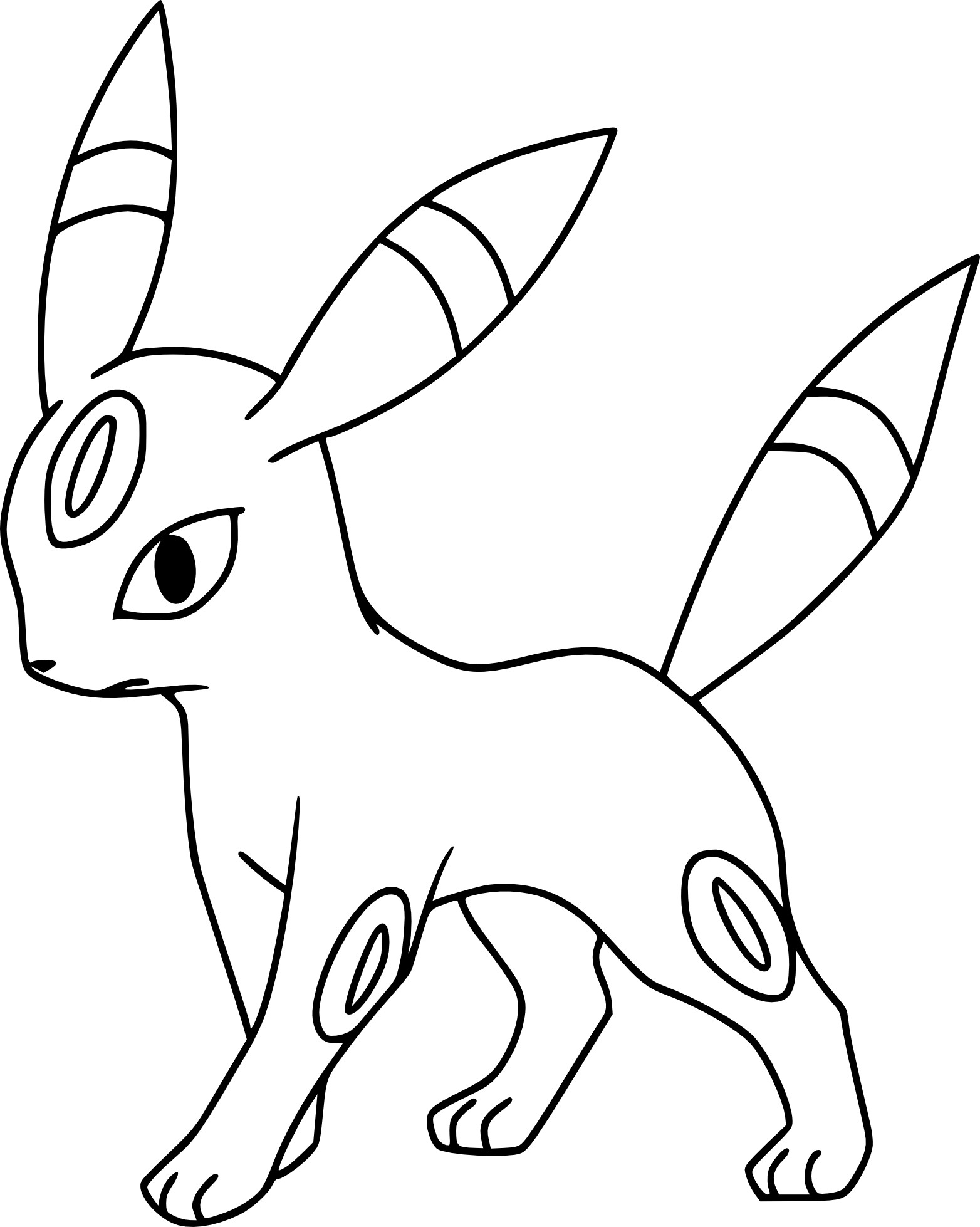Coloriage noctali pokemon imprimer - Dessins pokemon ...