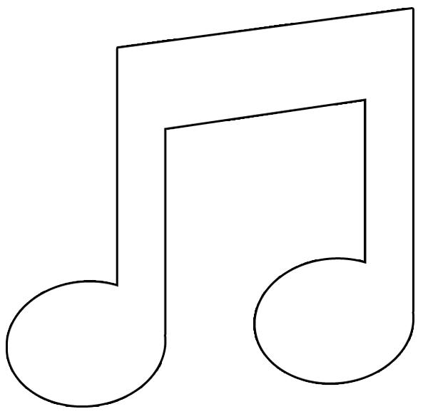 Coloriage note de musique à imprimer