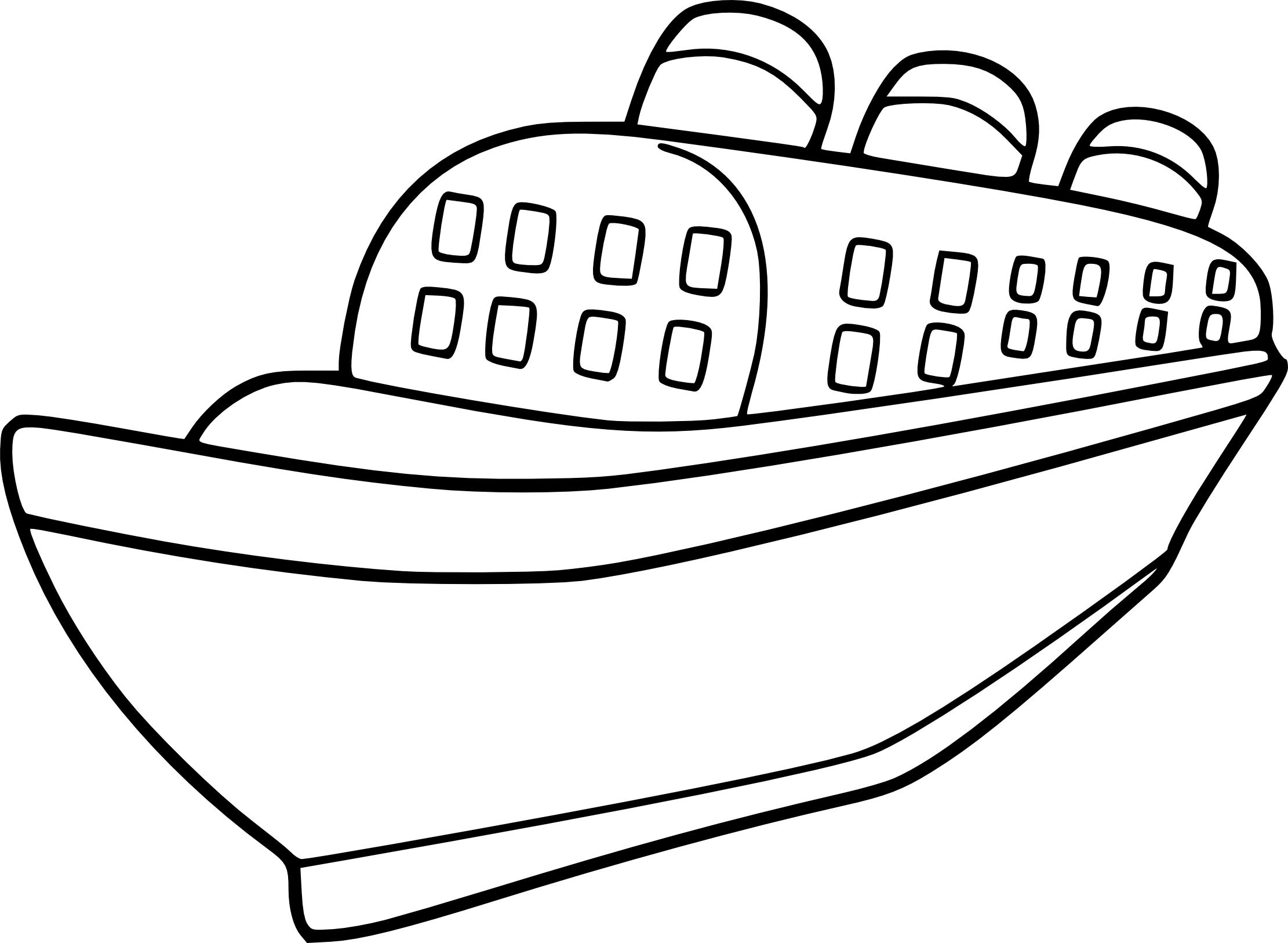 Coloriage paquebot imprimer - Paquebot dessin ...