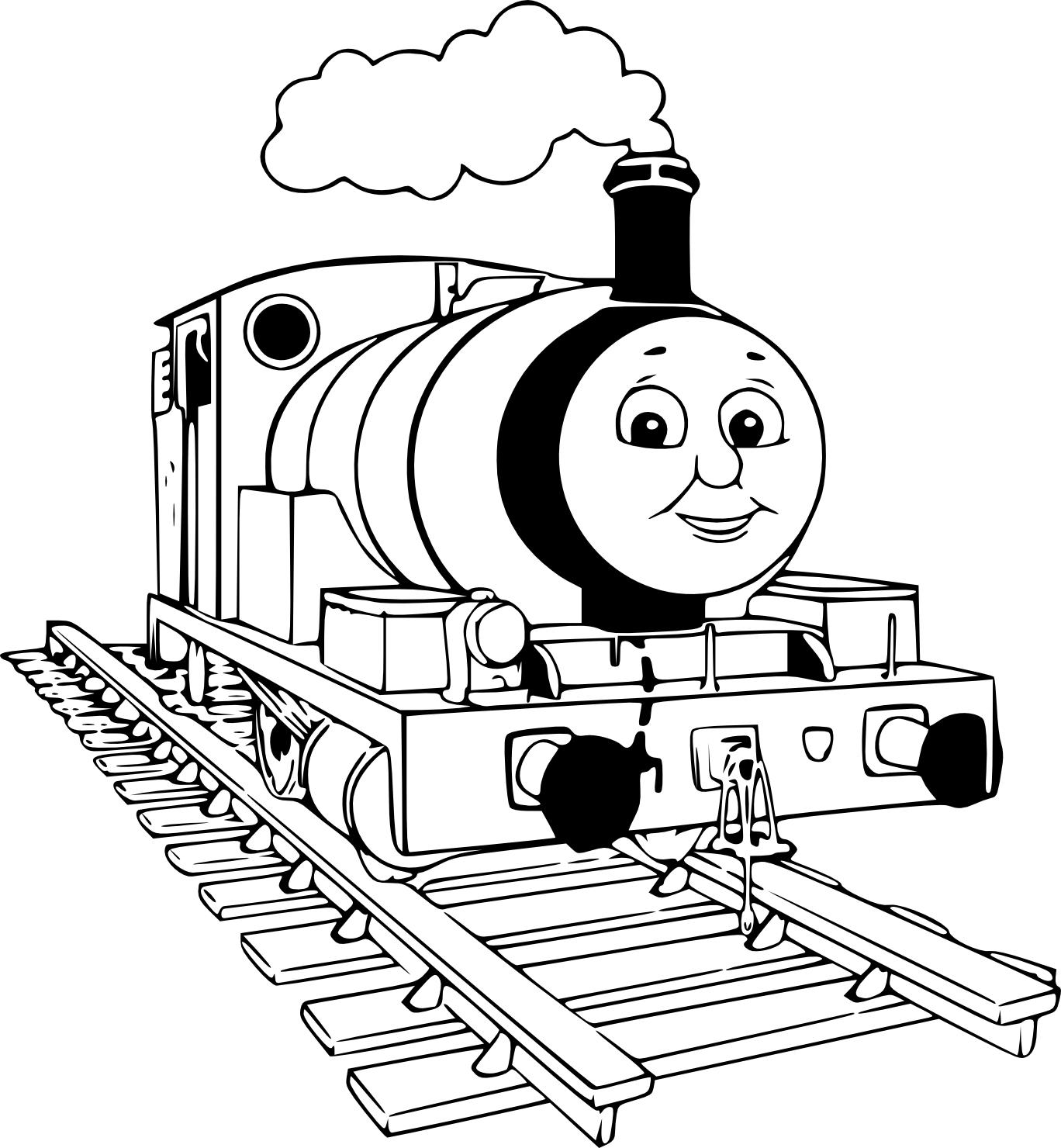 Coloriage Percy la petite locomotive