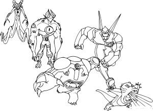 Coloriage personnage Ben 10