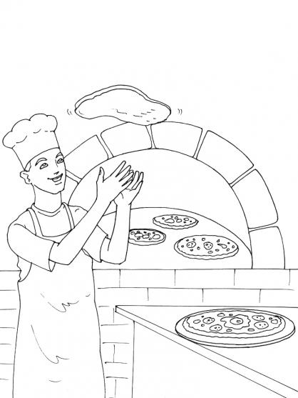 Coloriage pizza Italie