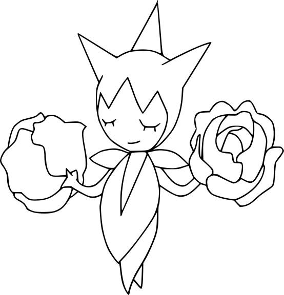 Coloriage pokemon Roselia