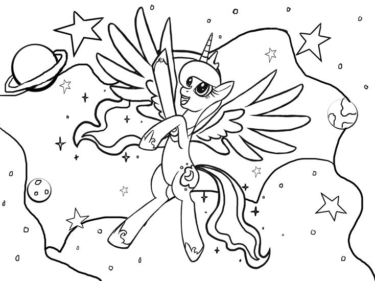 Coloriage princesse Luna