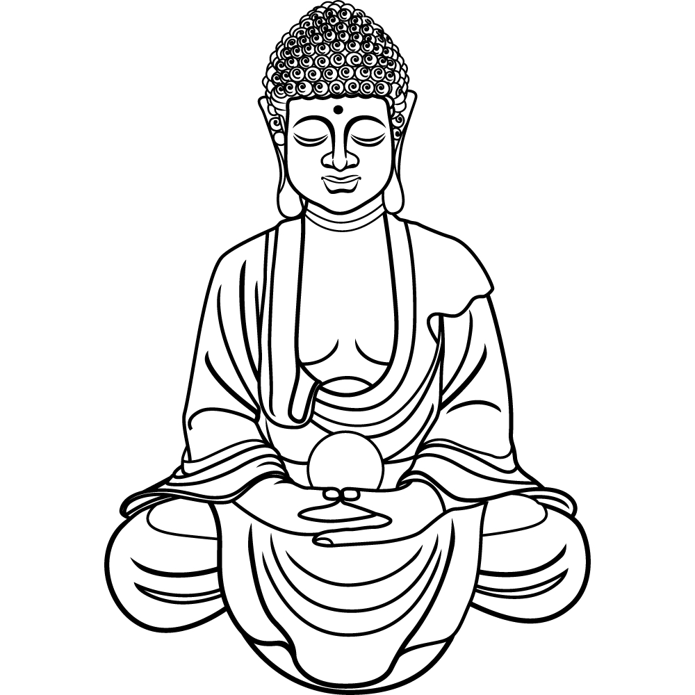 Coloriage statue bouddha imprimer - Dessin imprimer ...
