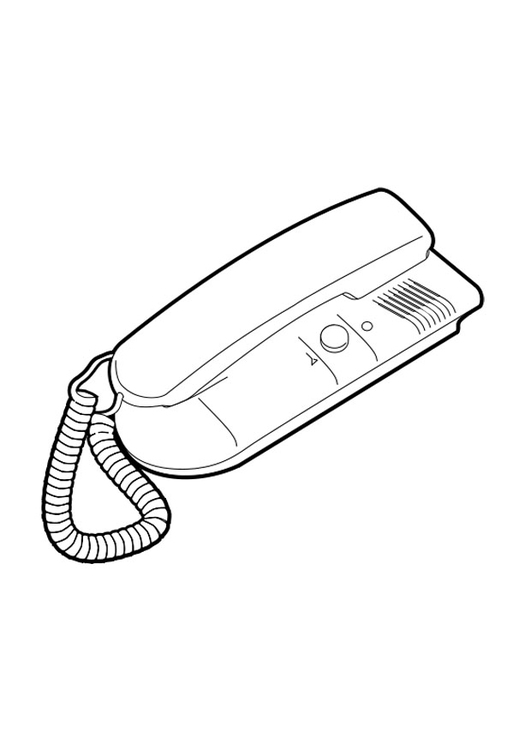 Coloriage Telephone.Coloriage Telephone Fixe A Imprimer