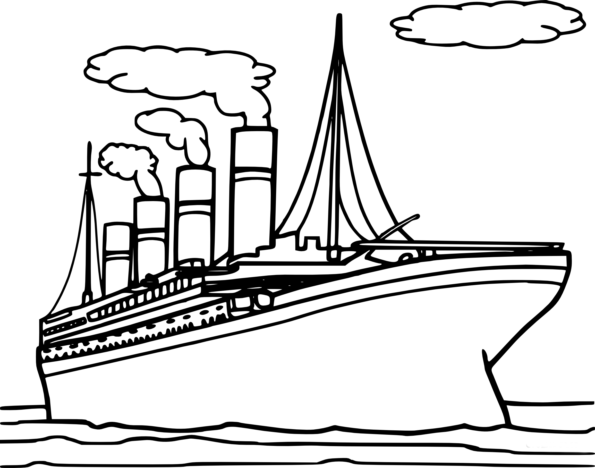 Coloriage titanic à imprimer