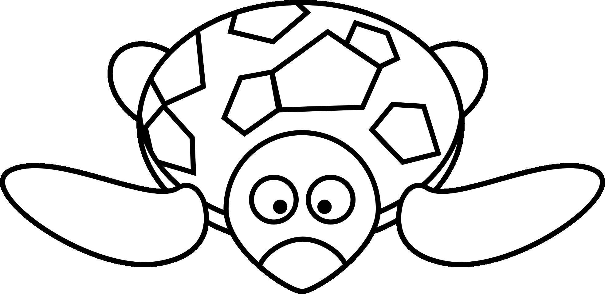 Coloriage tortue facile