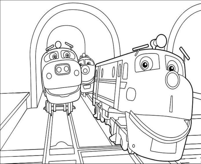 Coloriage train chuggington imprimer - Train dessin anime chuggington ...