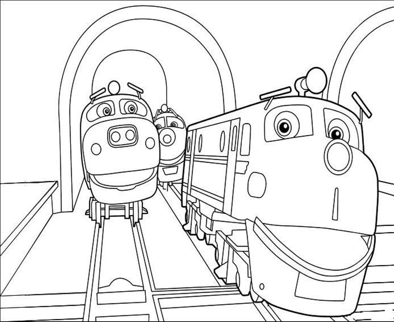 Coloriage Train Chuggington