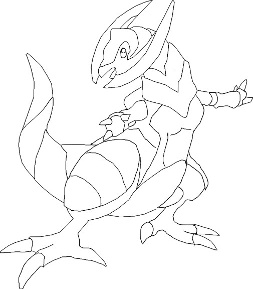 Coloriage Tranchodon Pokemon