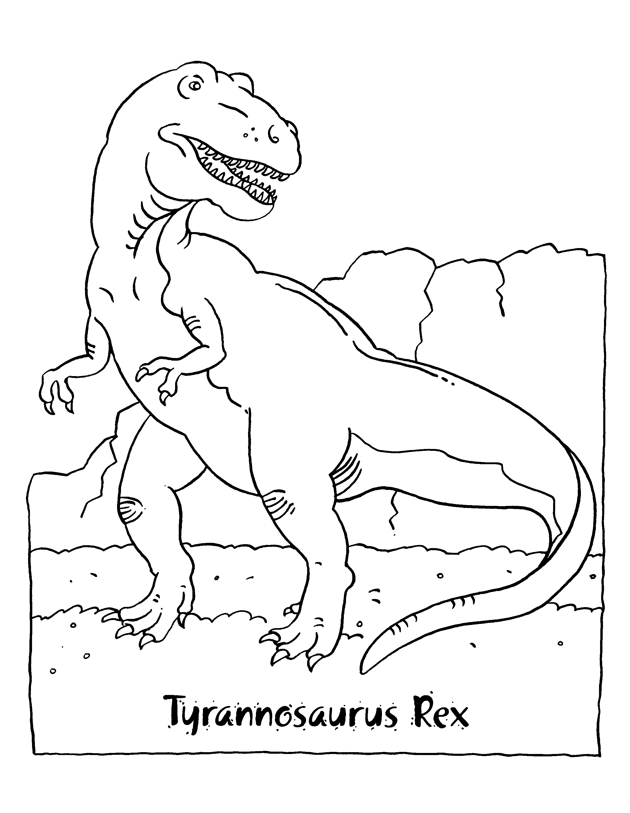 Coloriage T-Rex dinosaure