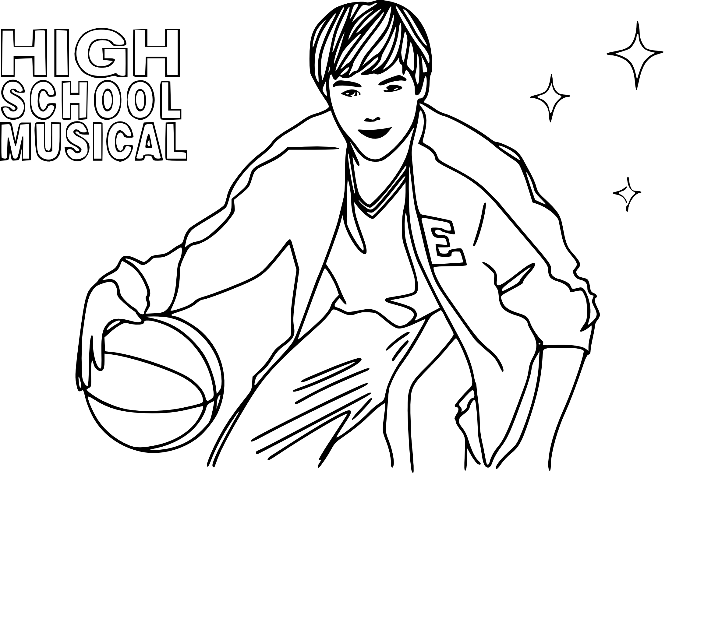 Coloriage Troy Zac Efron