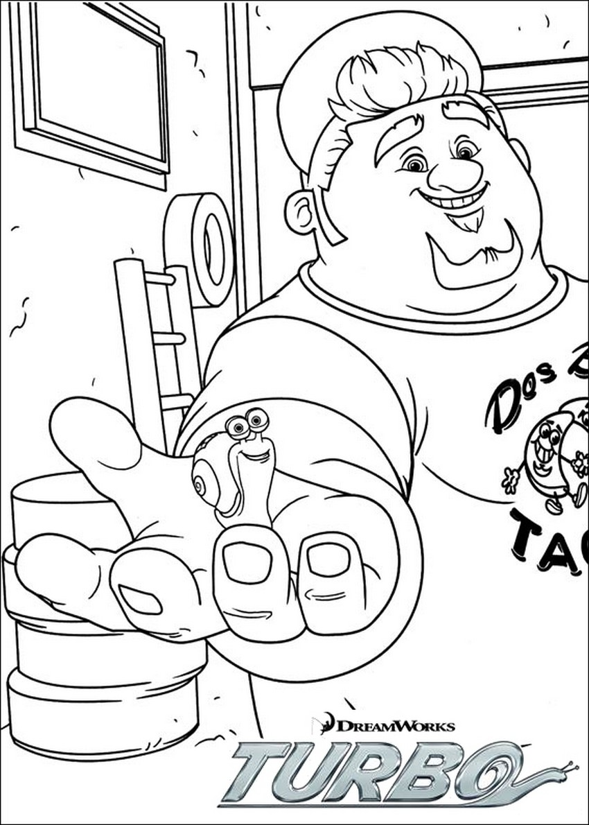 Coloriage Turbo et Tito
