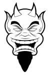 Coloriage visage diable