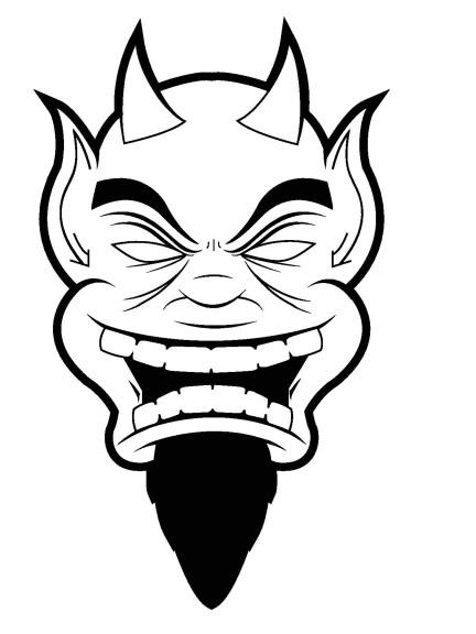 Coloriage visage diable imprimer - Coloriage de diable ...