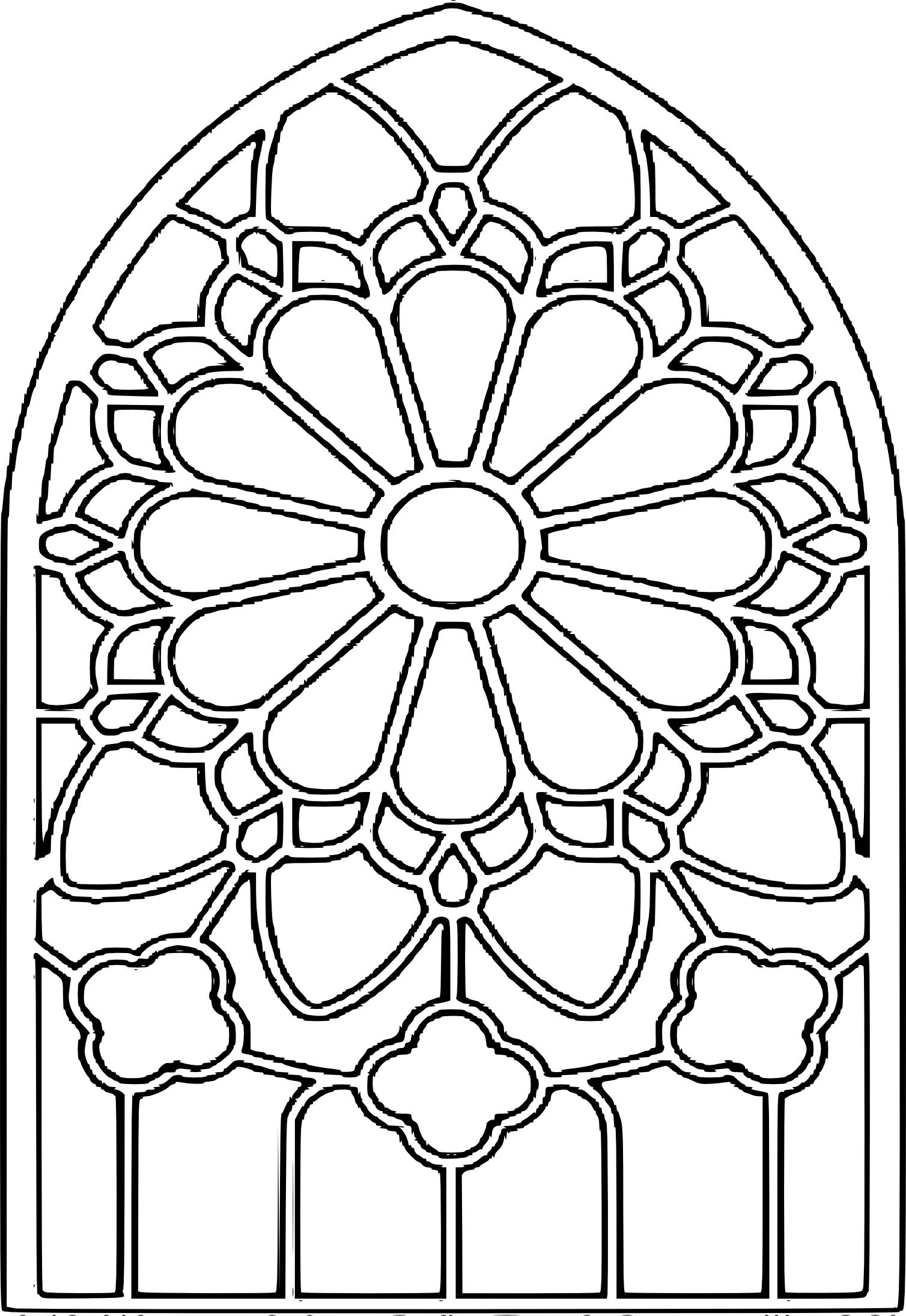 coloriage vitrail de cathedrale  u00e0 imprimer disney christmas clip art images disney christmas clipart png