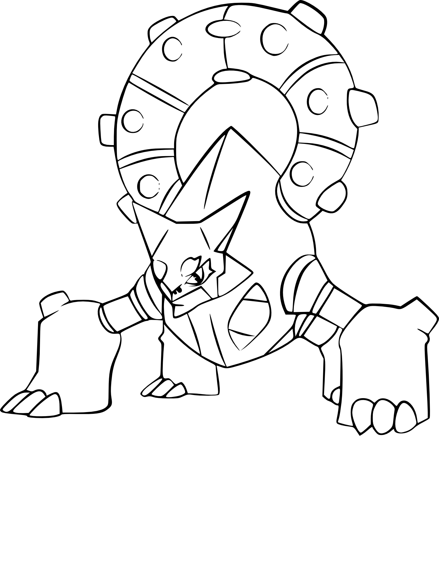 Coloriage Volcanion Pokemon à Imprimer