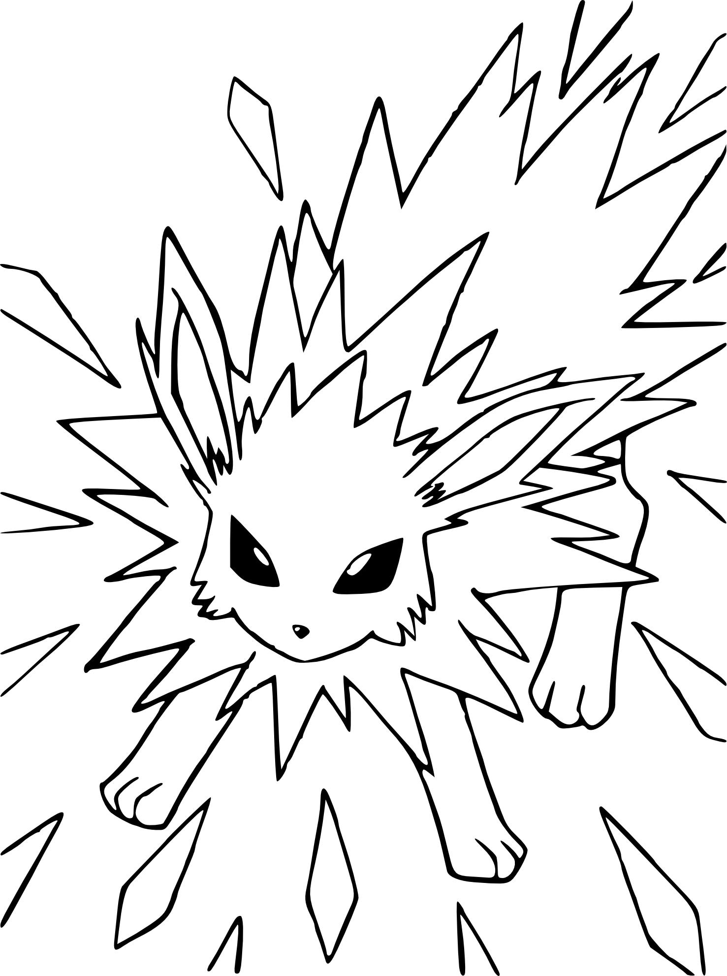 Coloriage Voltali Pokemon 224 Imprimer