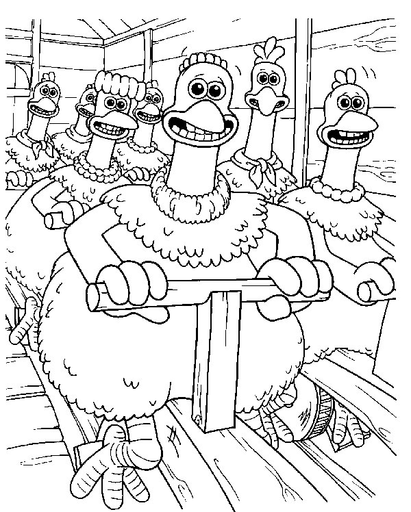 Dessin Chicken Run
