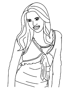 Dessin Hannah Montana
