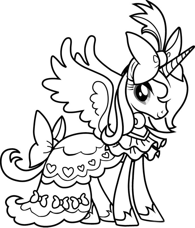 coloriage luna de my little pony et dessin