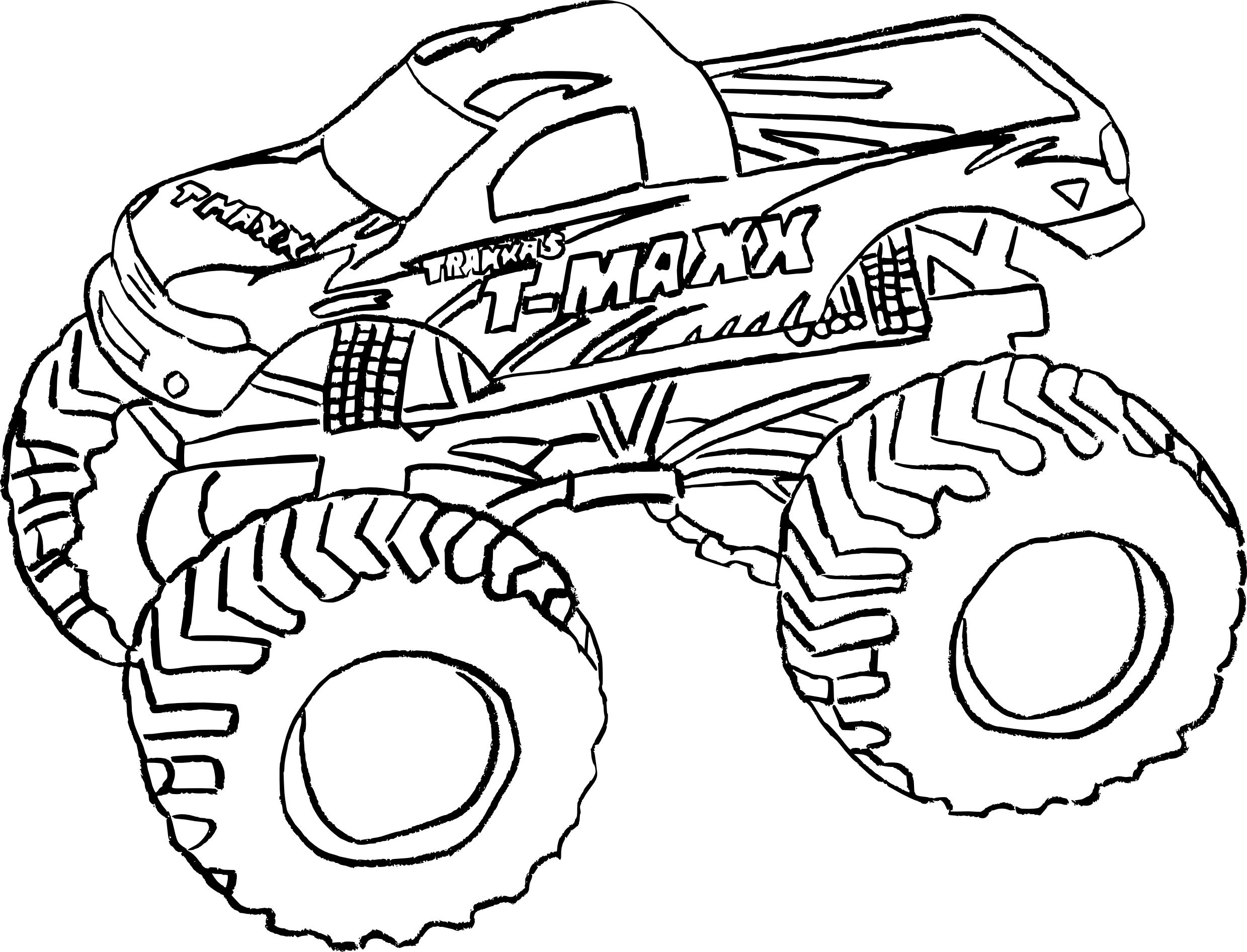 coloriage monster truck et dessin
