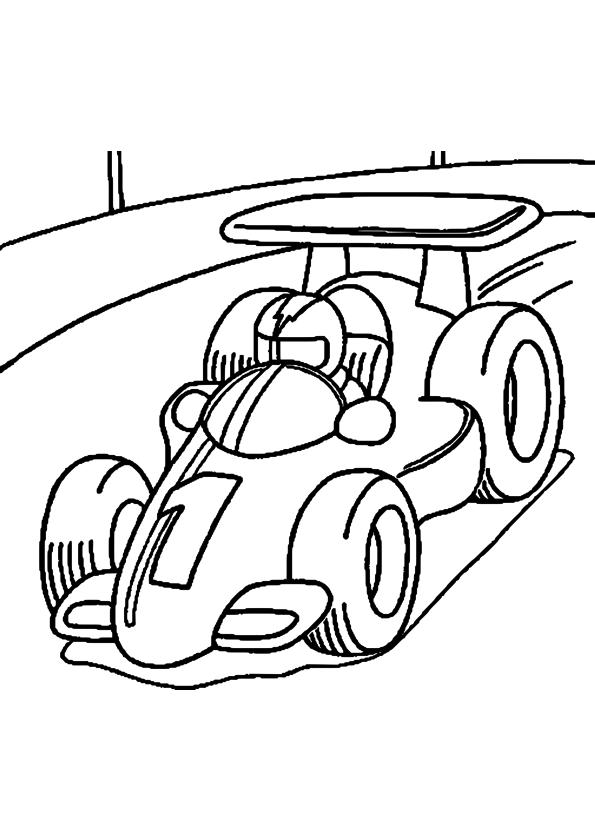coloriage voiture de course et dessin à imprimer