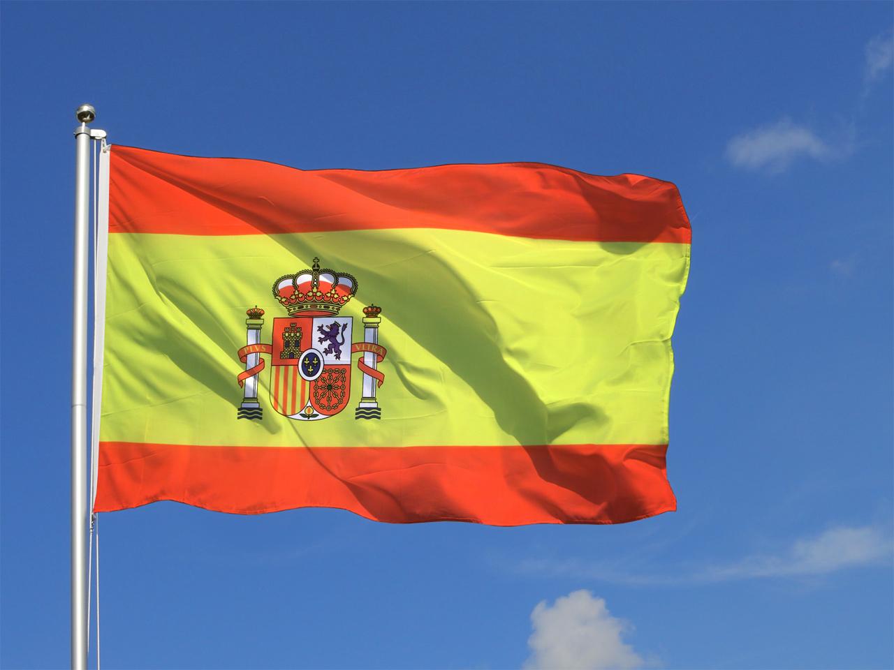 Coloriage drapeau espagne imprimer - Image drapeau espagnol a imprimer ...