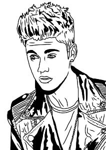 Justin Bieber coloriage