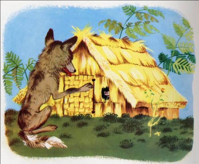 Maison de paille cochon