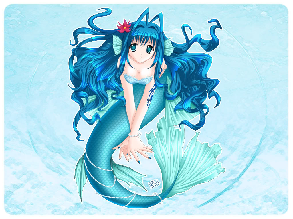 Dessin A Imprimer De Fille Manga Sirene Dessin De Manga