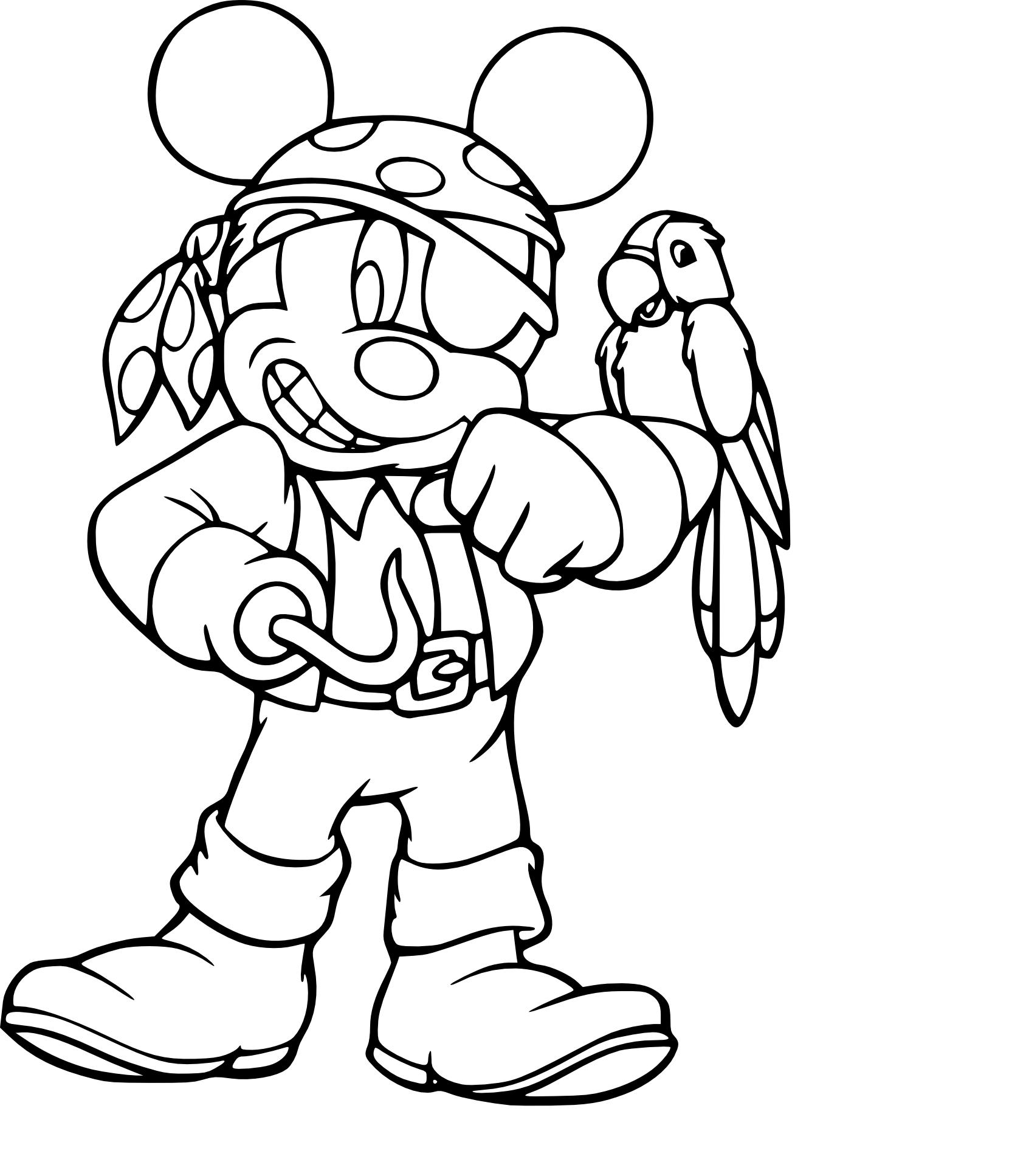 Mickey pirate coloriage