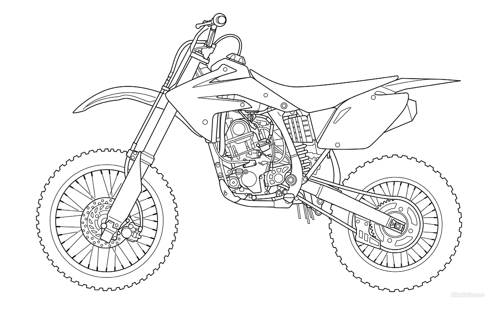 Motocross coloriage