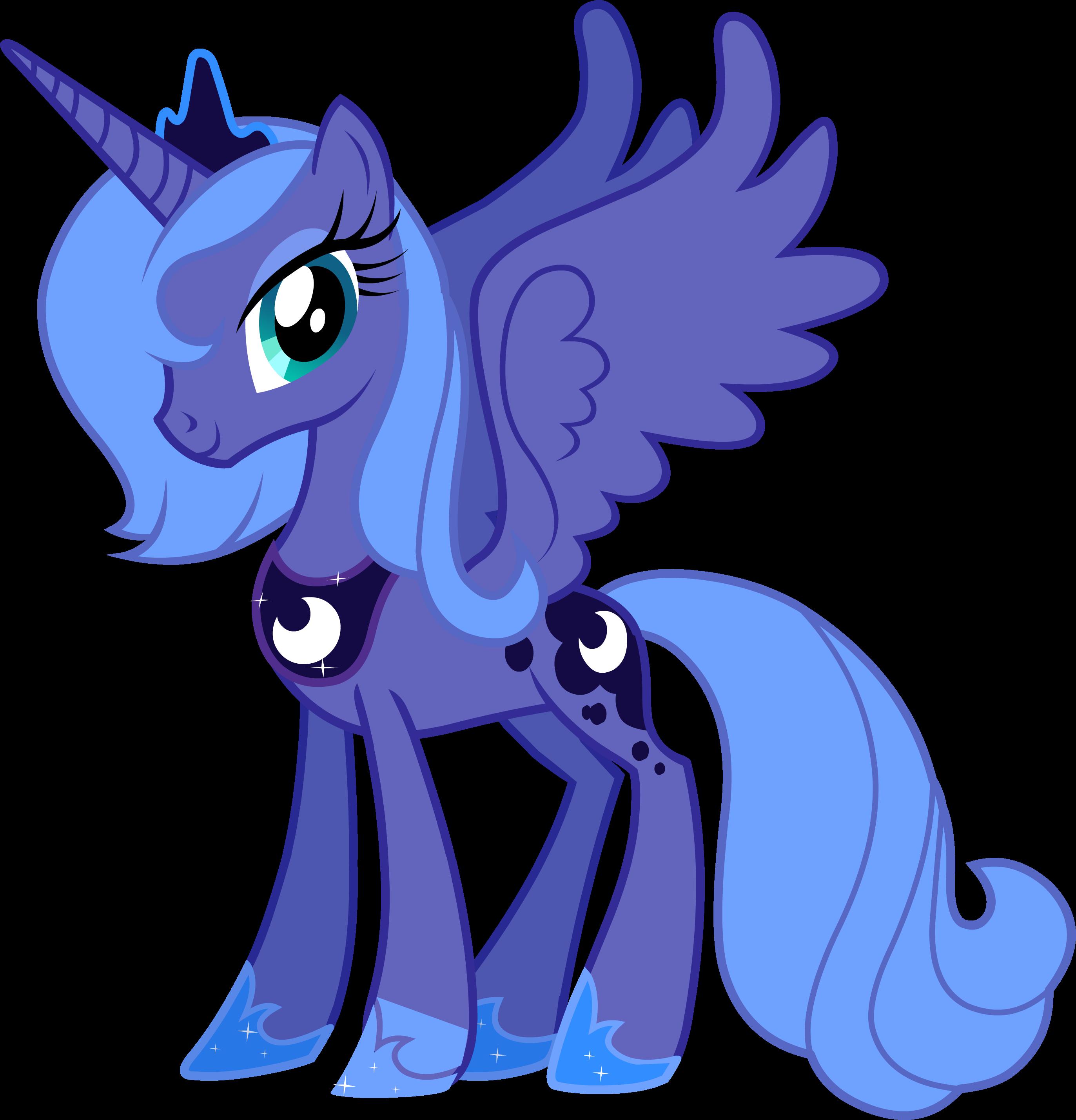 Coloriage My Little Pony Luna à imprimer