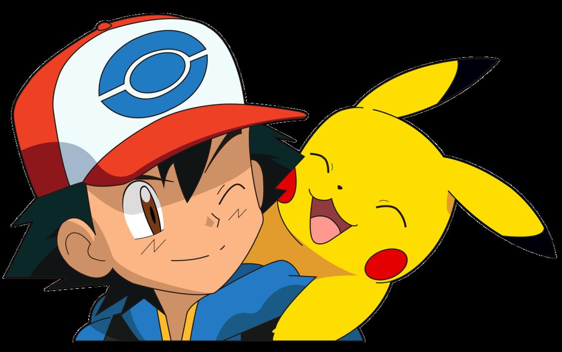 Coloriage Sacha Et Pikachu Gratuit à Imprimer