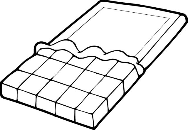 Tablette de chocolat coloriage