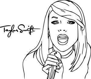 Taylor Swift coloriage