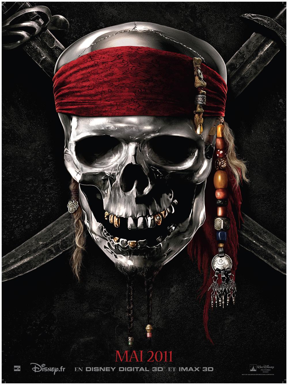 Coloriage Tete De Mort Pirate Des Caraibes à Imprimer