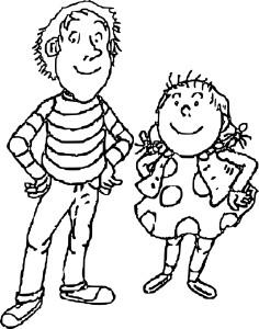 Tom-Tom et Nana coloriage