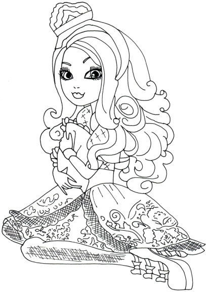 Apple White coloriage