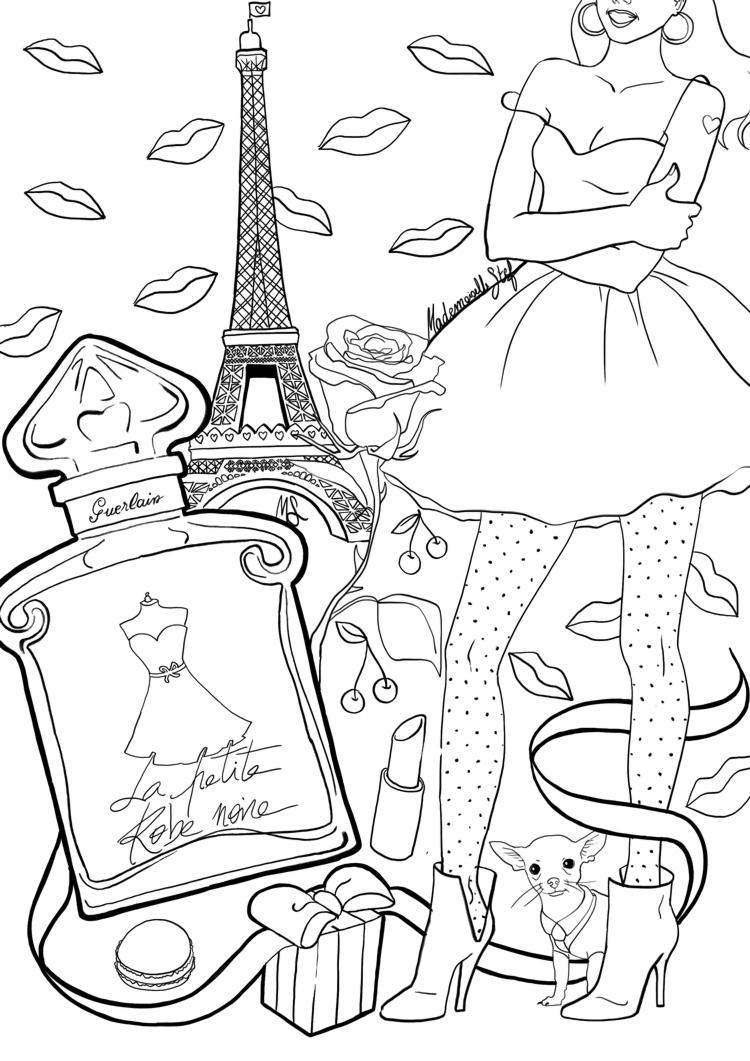 Coloriage adulte Paris